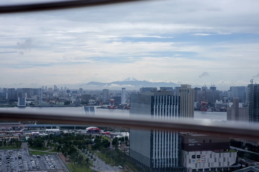 遠く富士を望む
