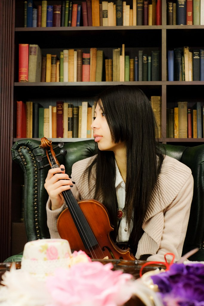音楽室x図書室